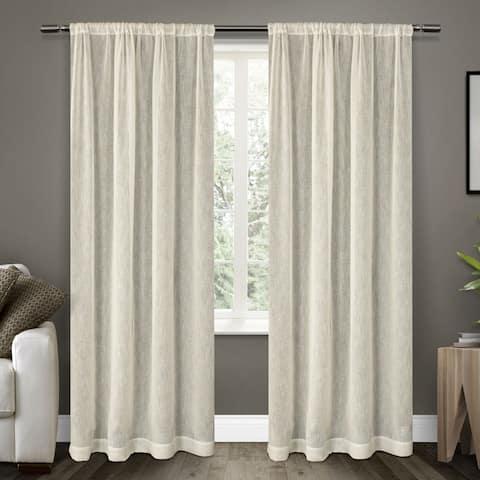 ATI Home Belgian Sheer Window Curtain Panel Pair with Rod Pocket
