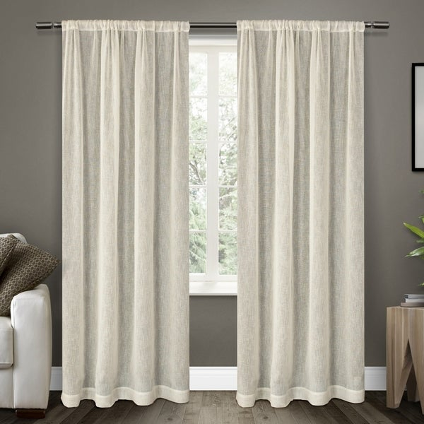 ATI Home Belgian Sheer Window Curtain Panel Pair with Rod Pocket