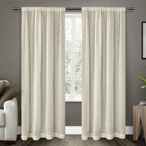 Clearance ATI Home Belgian Sheer Window Curtain Panel Pair With Rod Pocket
