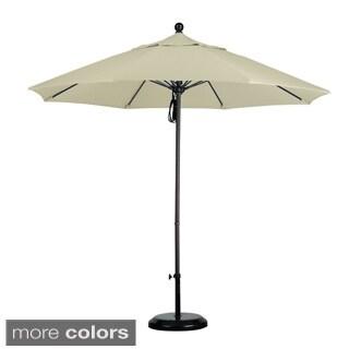 Commercial Grade 9-foot Sunbrella Aluminum Umbrella with Stand (As Is Item)