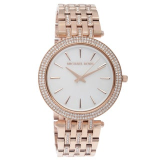 Michael Kors Women's MK3220 'Darci Glitz' Rose Goldtone Watch