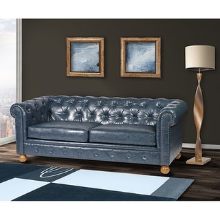Good Winston Vintage Blue Chesterfield Sofa