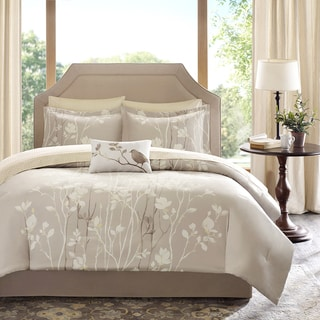 Madison Park Essentials Sonora Taupe Complete Comforter and Cotton Sheet Set