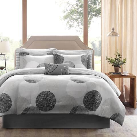 Madison Park Essentials Glendale Complete Comforter and Cotton Sheet Set