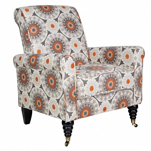 Handy Living Harlow Cafe Brown Garden Wheel Arm Chair