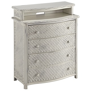 Home Styles Marco Island Media Chest White Finish