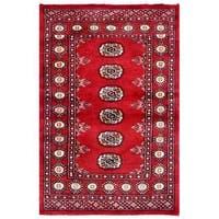 Handmade Herat Oriental Pakistani Bokhara Wool Rug (Pakistan) - 2'7 x 3'10