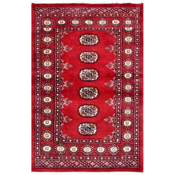 Herat Oriental Pakistani Hand-knotted Bokhara Wool Rug (2'7 x 3'10) - 2'7 x 3'10