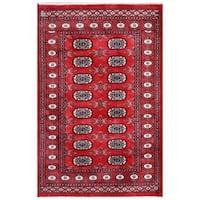 Handmade Herat Oriental Pakistani Bokhara Wool Rug (Pakistan) - 3'1 x 4'8