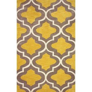 nuLOOM Hand-tufted Moroccan Trellis Gold Rug (8' 6 x 11' 6)