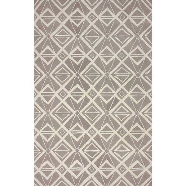 nuLOOM Hand-hooked Indoor/ Outdoor Grey Rug (7' 6 x 9' 6)