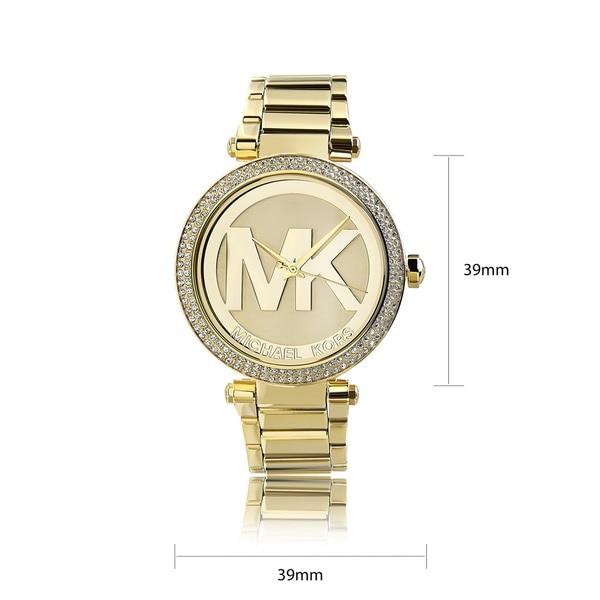 Shop Michael Kors Women's MK5784 'Parker' Goldtone Crystal