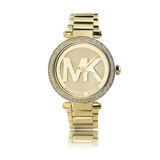 Michael Kors Women's MK5784 'Parker' Goldtone Crystal Accent Watch|https://ak1.ostkcdn.com/images/products/8874280/P16099023.jpg?impolicy=medium