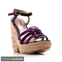 Gomax Women's 'Hey There-07' Espadrille Wedge Platform Sandals