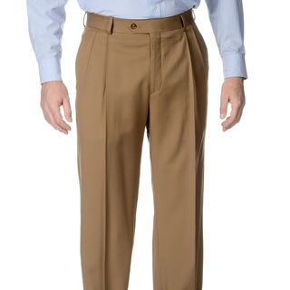 Palm Beach Men's Caramel Pleated Front Pants