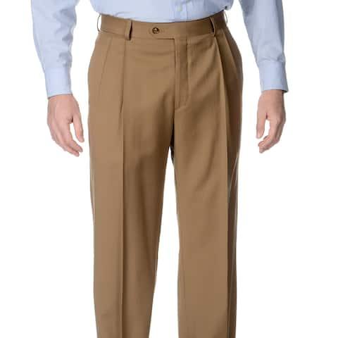 Palm Beach Men's Caramel Pleated Front Pants