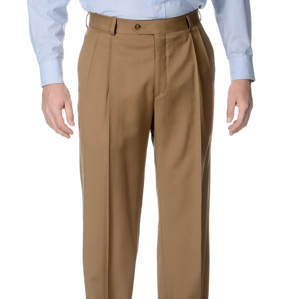 Palm Beach Men's Caramel Pleated Front Pants. Opens flyout.