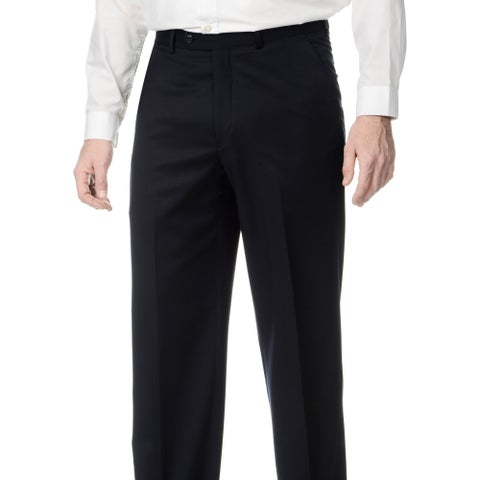 Palm Beach Men's Navy Stretchable Waistband Flat Front Pants