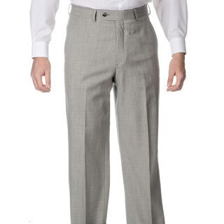 Palm Beach Men's Grey Stretch Waist Flat Front Pants