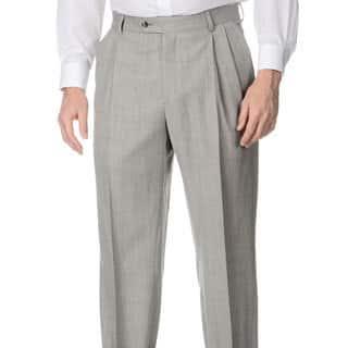 Palm Beach Men's Big & Tall Grey Stretch Waist Pleated Front Pants|https://ak1.ostkcdn.com/images/products/8874294/Henry-Grethel-Mens-Big-Tall-Grey-Stretch-Waist-Pleated-Front-Pants-P16099057.jpg?impolicy=medium