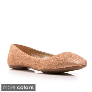 Gomax Women's 'Sienna 15' Glitter Ballerina Flats