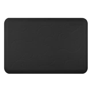 WellnessMats Bella Black Motif Mat (36 inches x 24 inches)