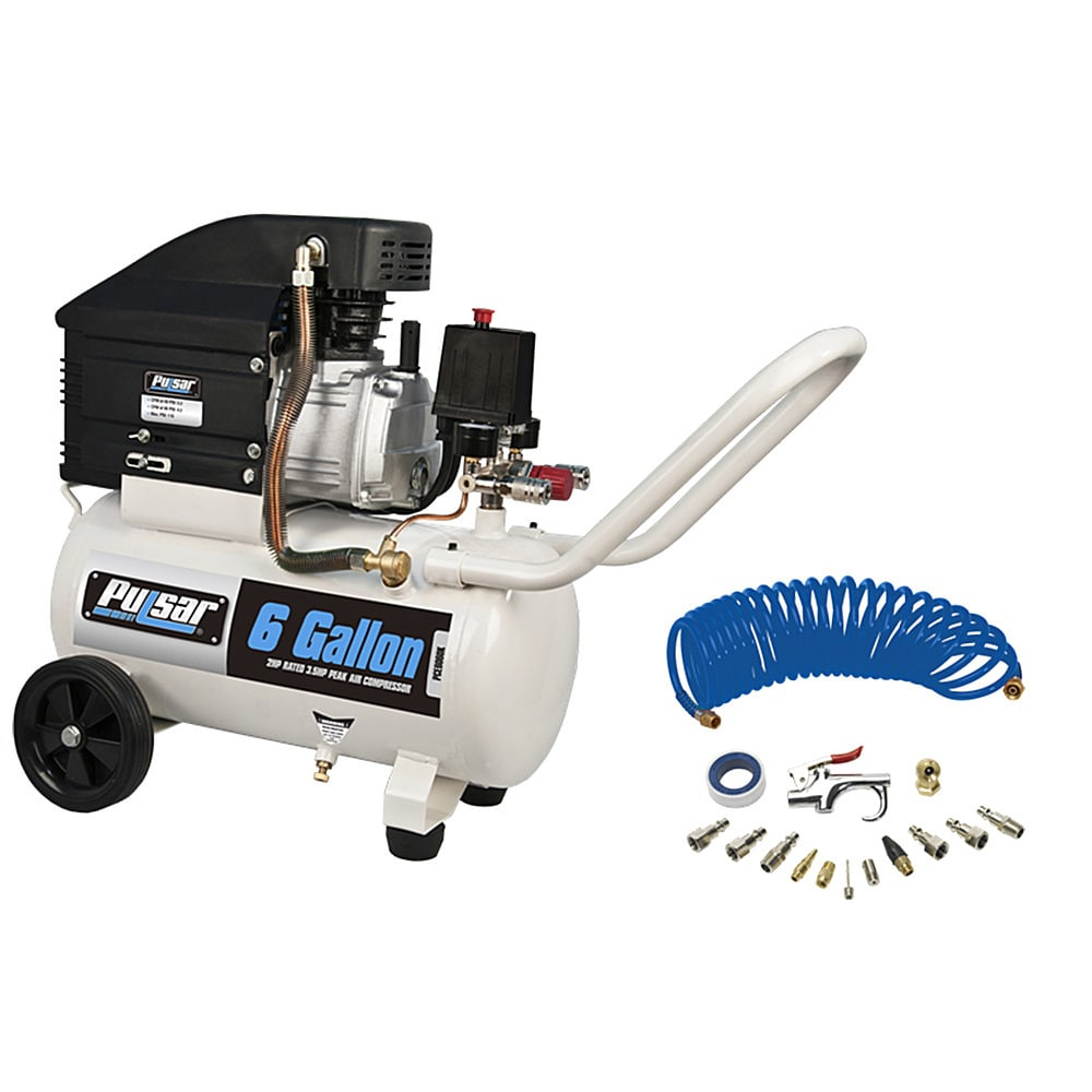 PULSAR Products 6-gallon Air Compressor with Accessories ...