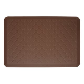 WellnessMats Trellis Brown Motif Mat (36 inches x 24 inches)
