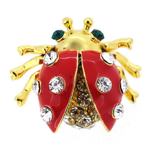 Red Ladybug Enamel Lapel Pin