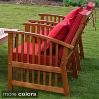 International Caravan Royal Tahiti Phuket Yellow Balau Wood Armchairs with Cushions and Pillows