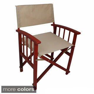 International Caravan Stained Acacia Mission Style Directors Chairs (Set of 2) (2 options available)