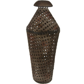 Handmade Brown Wrought Iron Rustic Decorative Flower Vase (China)