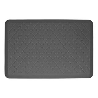 WellnessMats Trellis Grey Motif Mat (36 inches x 24 inches)