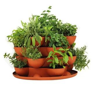 Handy Pantry Stack & Grow Stackable Terracotta Garden Planter