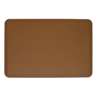 WellnessMats Trellis Tan Motif Mat (36 inches x 24 inches)