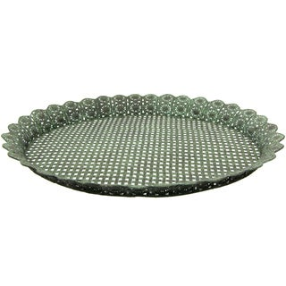 Handmade Green Wrought Iron Decorative Display Platter (China)