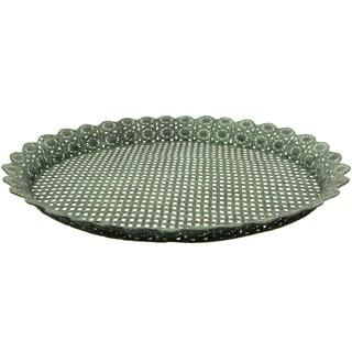 Handmade Green Wrought Iron Decorative Display Platter (China)