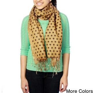 Saachi Women's Wool Blend Stars Print Scarf (India)