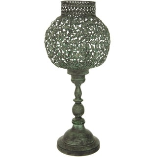 Handmade Green Patina Decorative Candle Holder (China)