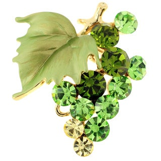 Peridot-color Bunch of Grapes Pin
