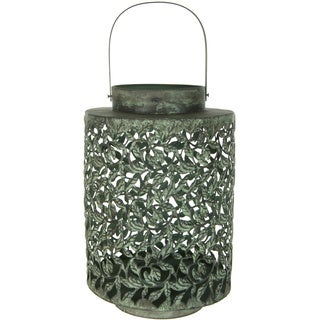Handmade Green Traditional Wrought Iron Lantern (China)