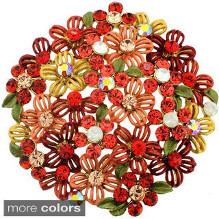 Multicolor Flower Bridal Wedding Pin