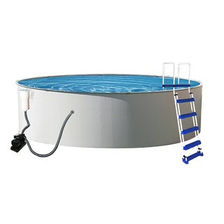 Presto Round 52-inch Deep Metal Wall Swimming Pool Package
