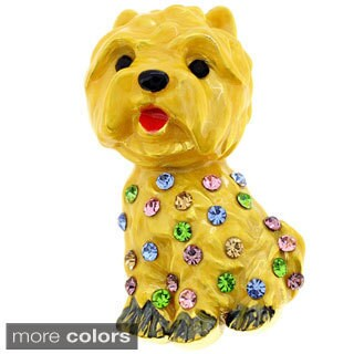 Golden Brown Enamel Dog Pin Animal Pin Brooch