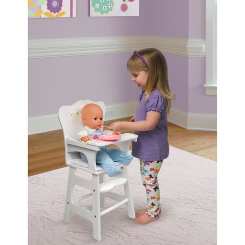 Badger Basket Doll High Chair - White Rose