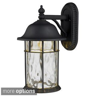 Lapuente 1-light Matte Black Outdoor Wall Sconce