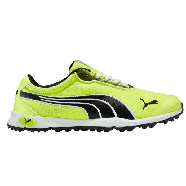 Puma Mens Biofusion Mesh Spikeless Fluorescent Yellow/ Black Golf Shoes