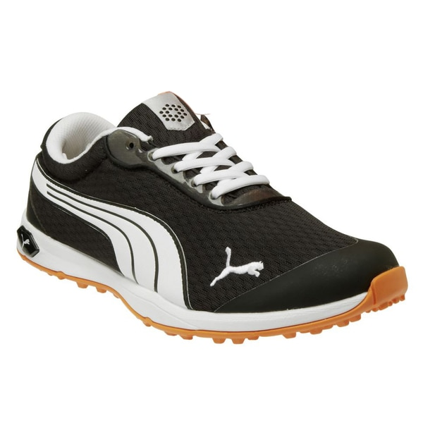 Shop PUMA Men s Black Orange White Biofusion Mesh Spikeless Golf Shoes -  Free Shipping Today - Overstock - 8874535 b516b900b1fa