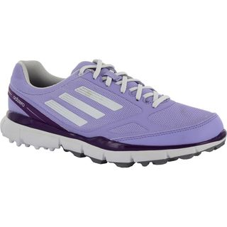 Adidas Women's Adizero Sport II Spikeless Glow Purple/Running White/Metallic Silver Golf Shoes Q46639