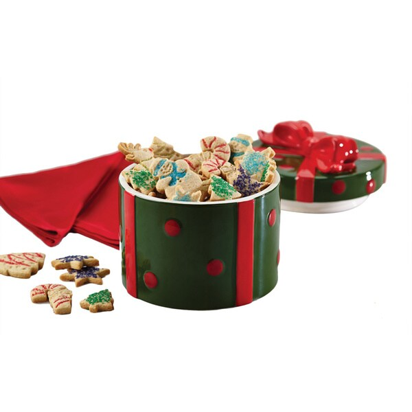 Cake Boss Serveware Stoneware Holiday Gift Cookie Jar